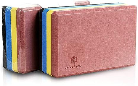 HHH Rainbow Yoga Block 2 Pack Espuma de EVA Sin Látex con Proceso ...