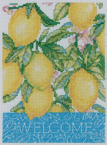 Bucilla Mini Counted Cross Stitch Picture Kit, 45522 Welcome