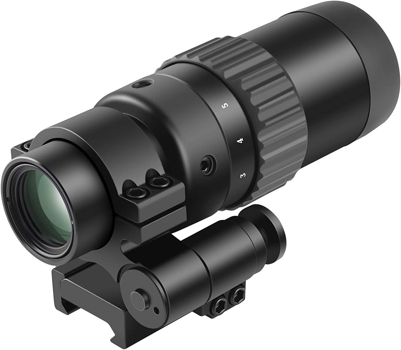 Feyachi M36 1.5X - 5X Red Dot Sight Optics Magnifier with Flip to Side Mount : Camera & Photo