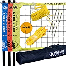 Park & Sun Sports Tri-Ball Volleyball: Portable Outdoor 3-Way Net System, Professional Series