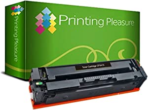 Printing Pleasure Compatible CF540X 203X Toner Cartridge for HP Colour Laserjet Pro M254dw M254nw MFP M280nw MFP M281fdn MFP M281fdw - Black, High Yield (3, 200 Pages)