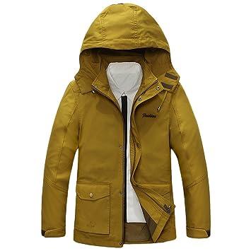 Terreno jeep jacket otoño e invierno versión coreana de tapón grande de hombres ocio código chaqueta flojo, campo y ,M: Amazon.es: Deportes y aire libre