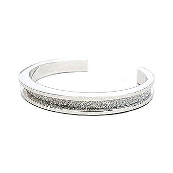 Amazon.com  NINA by My Hair Tie Bracelets Silver Tone fec7ef095ab