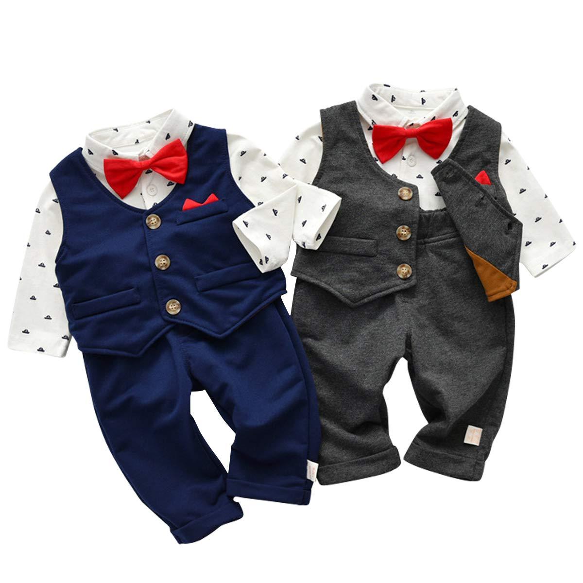 Kanodan Baby Junge Smokings Kinder Anzug Hochzeit Partei Taufe Bekleidungsset