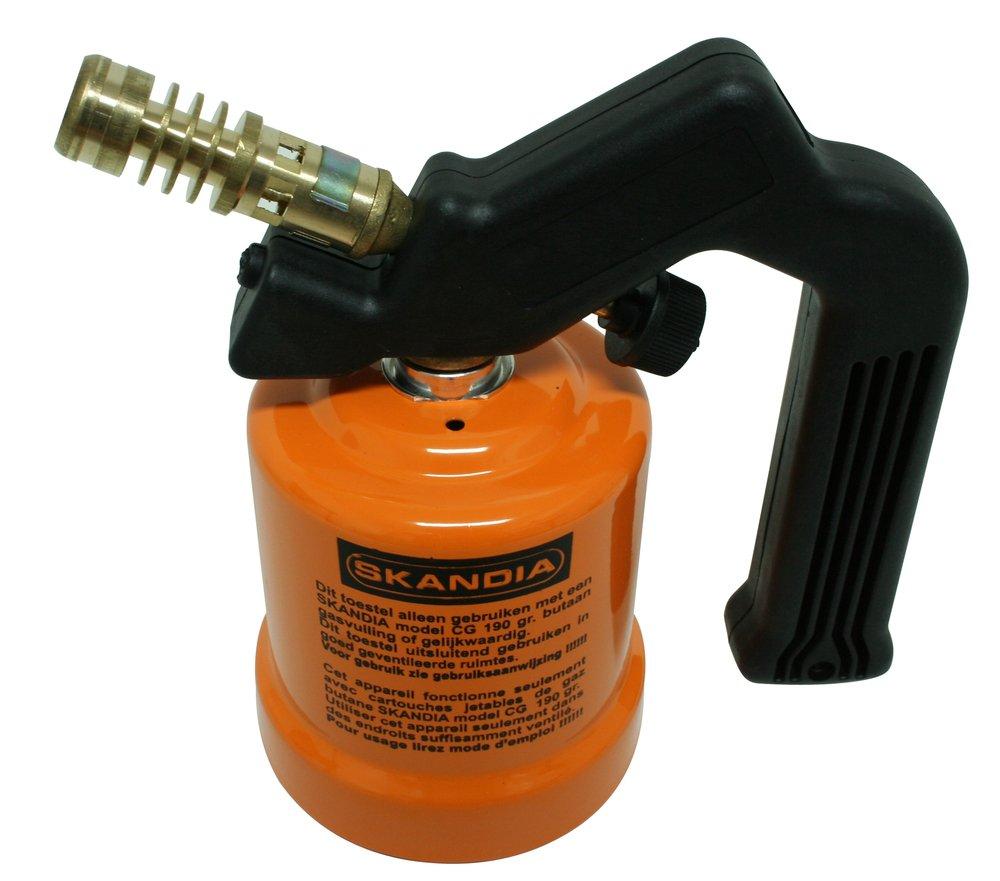 Butane Blow Torch Gas Plumbing 190g Flame Cylinder Bottles Piezo Ignition SIL322