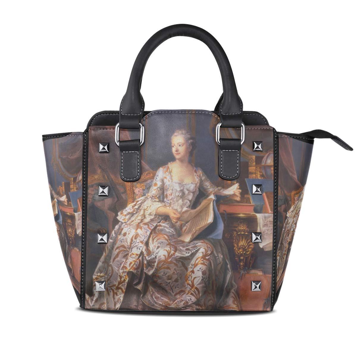 Design5 Handbag A Man Genuine Leather Tote Rivet Bag Shoulder Strap Top Handle Women