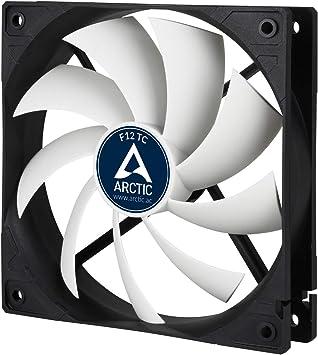 ARCTIC F12 TC 120 mm, Ventilateur Haute Performance, Ventilateur Boitier, Refroidisseur Silencieux pour Unité Centrale, Roulement à Fluide