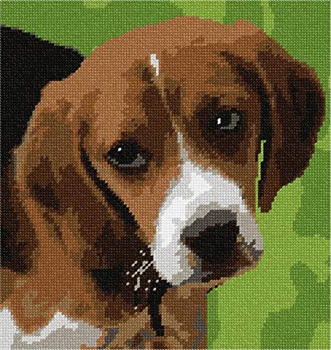 pepita Beagle Puppy Needlepoint Canvas