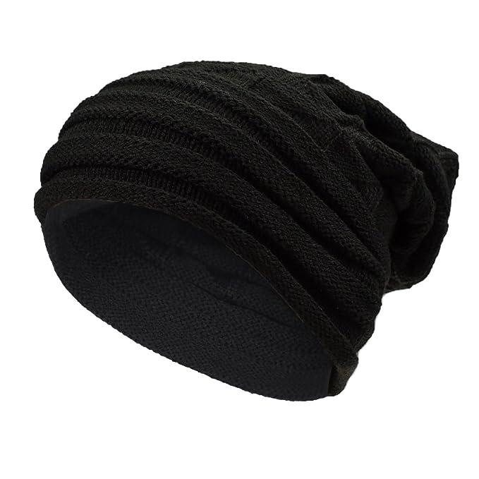 Cappello Uomo Invernale Cappello Beanie Uomo Berretto in maglia berretto  uomo invernale (Nero)  Amazon.it  Abbigliamento 2ce769ec309a