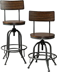 Signature Design by Ashley Odium Counter Height Bar Stool, Brown