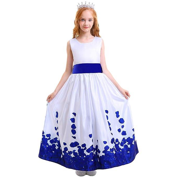 80448d11382e0 OBEEII Vestito Cerimonia Nuziale Principessa Vestito Promenade Ricamo  Spettacolo Ragazze 4-5 Anni