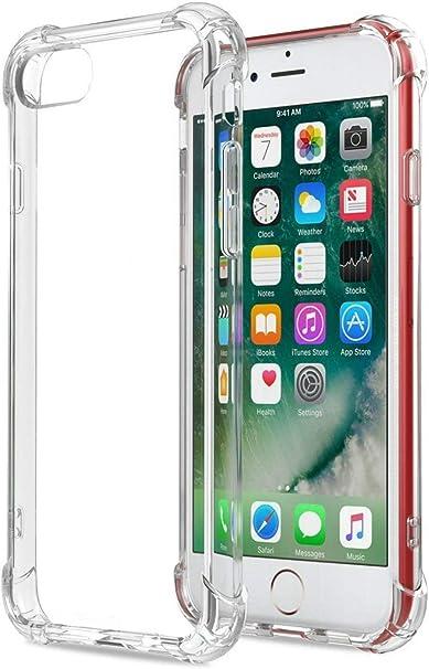 HUSHCO Funda iPhone 7 iPhone 8 iPhone SE 2020 Carcasa Silicona ...