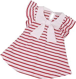 Culater® 0-24 mesi baby girl dress neonata di estate del cotone a righe bow dress abbigliamento bambino 1 anno birthday dress per le ragazze