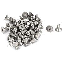 uxcell a15101300ux0165 perno avellanado M5 x 8 mm Metric Hex Socket avellanado cabeza plana tornillo tornillos