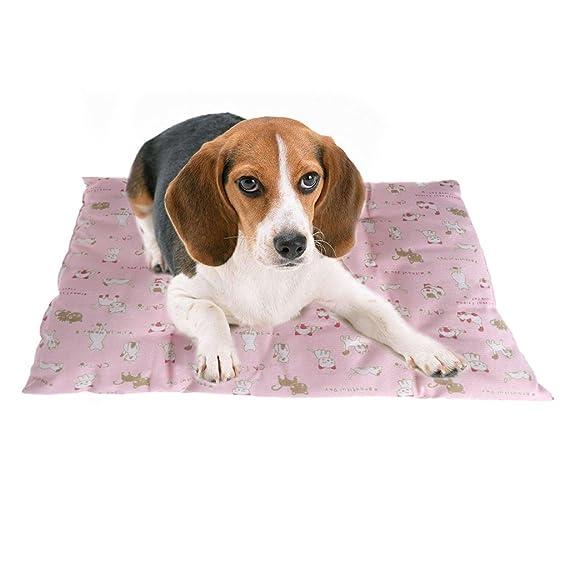 LANDUM - Alfombrilla para Mascotas, para Perros, Gatos, sofá, Cama Suave, Almohadilla Antideslizante, para Dormir, para Verano, Rosa, ...