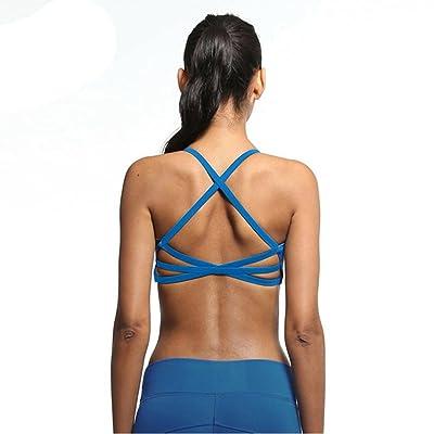 Hi-WISH Yoga Bra Women Padded Sports Bra Shake Proof Workout Gym Bra Wirefree Push up Fitness Sport Top