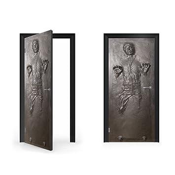 Perfect DoorWrap: Han Solo In Carbonite Vinyl Sticker For Door