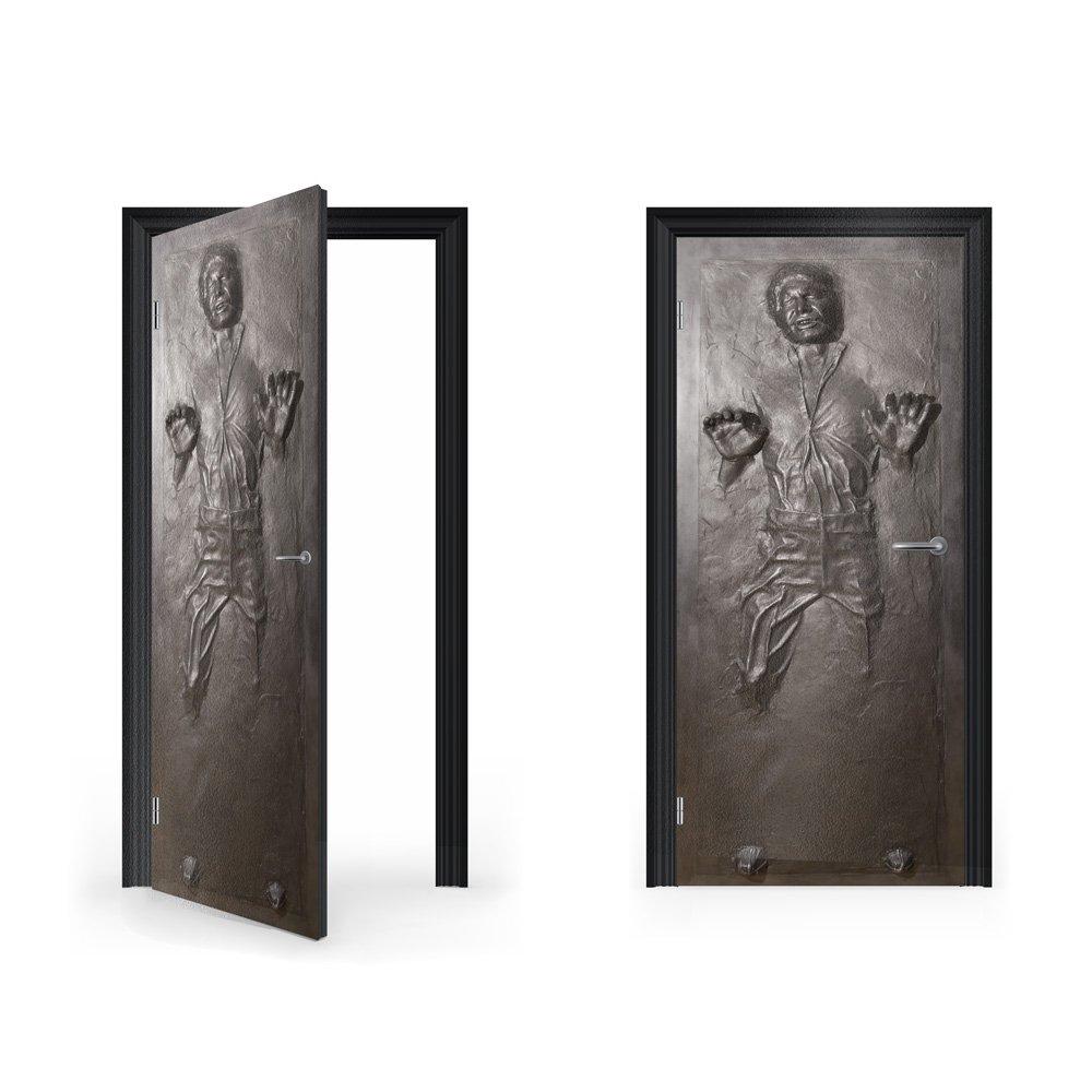 DoorWrap: Han Solo in Carbonite Vinyl Sticker for Door