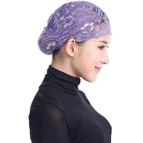 Amayay Gorros Sombrero Mujeres Ninja De Hijab Encaje ...