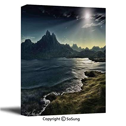 Amazon Com Fantasy House Decor Canvas Wall Art Image Of