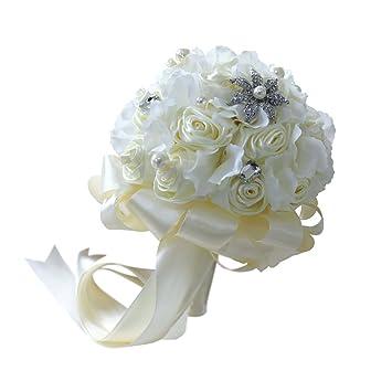 Sharplace Rosenstrauss Brautstrauss Romantische Hochzeitsstrauss
