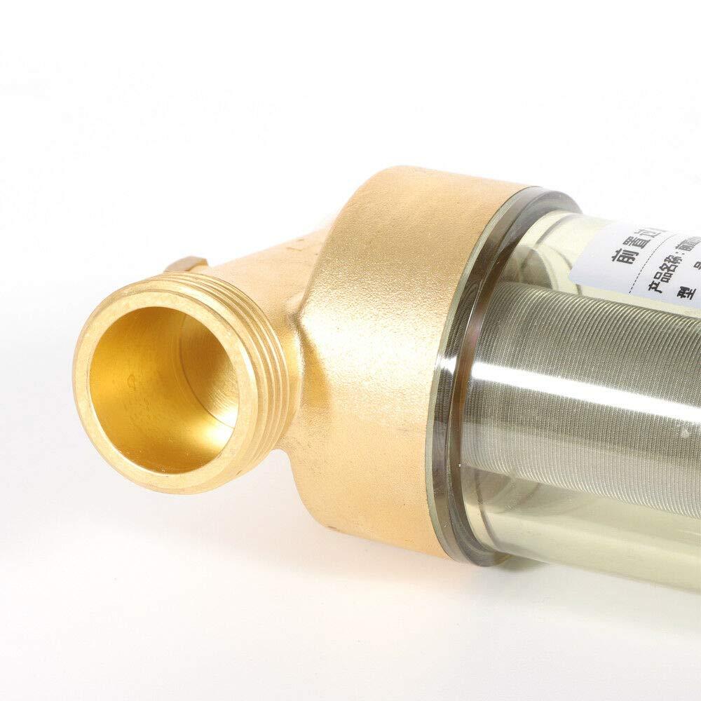 YIYIBY R/ücksp/ülfilter 1DN 25 Wasserfilter f/ür Trinkwasseranlagen mit Druckminderer Rostfreier Stahl Filter Chlorine//Bacteria