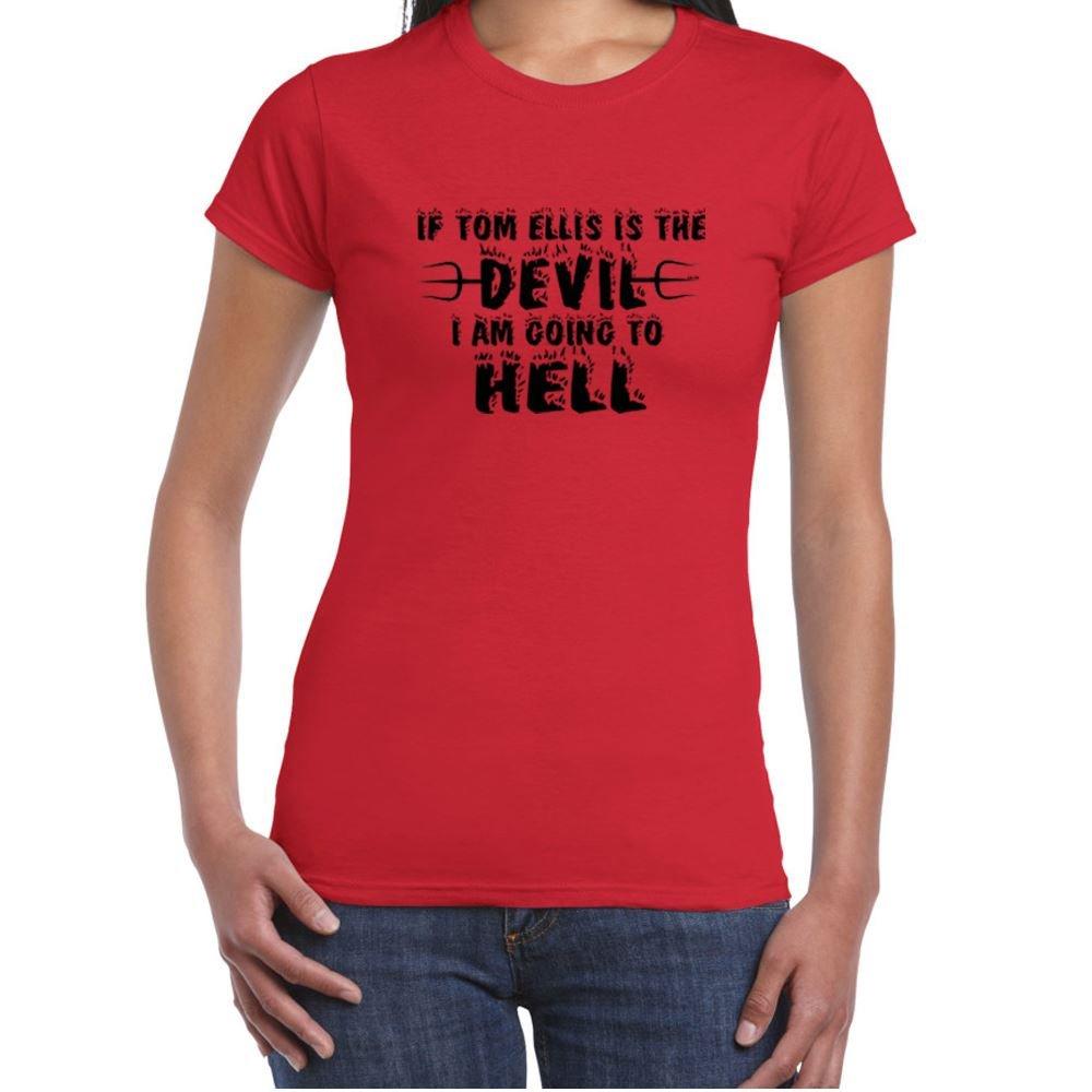 Womens Funny T Shirts-Tom Ellis Devil-Hell-TV Show Lucifer tshirt-Funny Gift ALM-786t