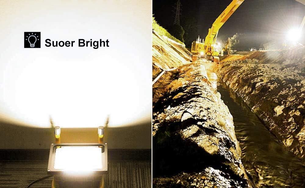 und Au/ßenbereich Arbeitsleuchte Hengda Akku LED Baustrahler 20W Tragbare Arbeitsscheinwerfer 1600 Lumen LED Fluter Bauscheinwerfer f/ür den Innen