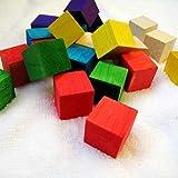 Wooden Building Blocks For Kids Children DIY Accessory 20 Pcs/ Set (Random Color) by FJTANG