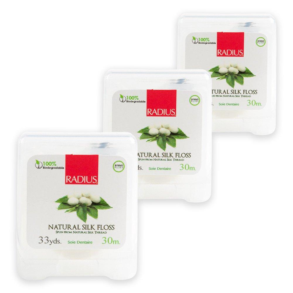 RADIUS Floss - Natural Silk - Biodegradable (33 yd) | 3-Pack