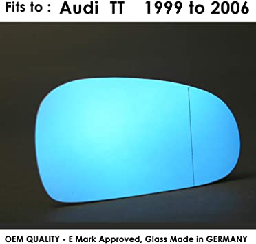 Wide Angle 2007 onward R8 RIGHT SIDE Wing Mirror Glass Silver