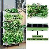 Green Sun Garden Self-watering Vertical Planter,Wall-hung Plants Holder,Afforest Hanging Flowerpot,1 Planter with 4 Pots Design