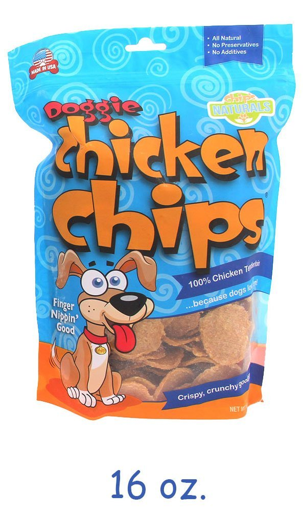 All Natural Chicken Chips- Dog Treats (Large- 16 oz. bag)