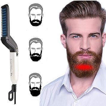 VOARGE Fer à lisser pour homme et homme Peigne à barbe rapide multifonction Peigne à barbe pour barbe Krauses Barthaar DIY flexible