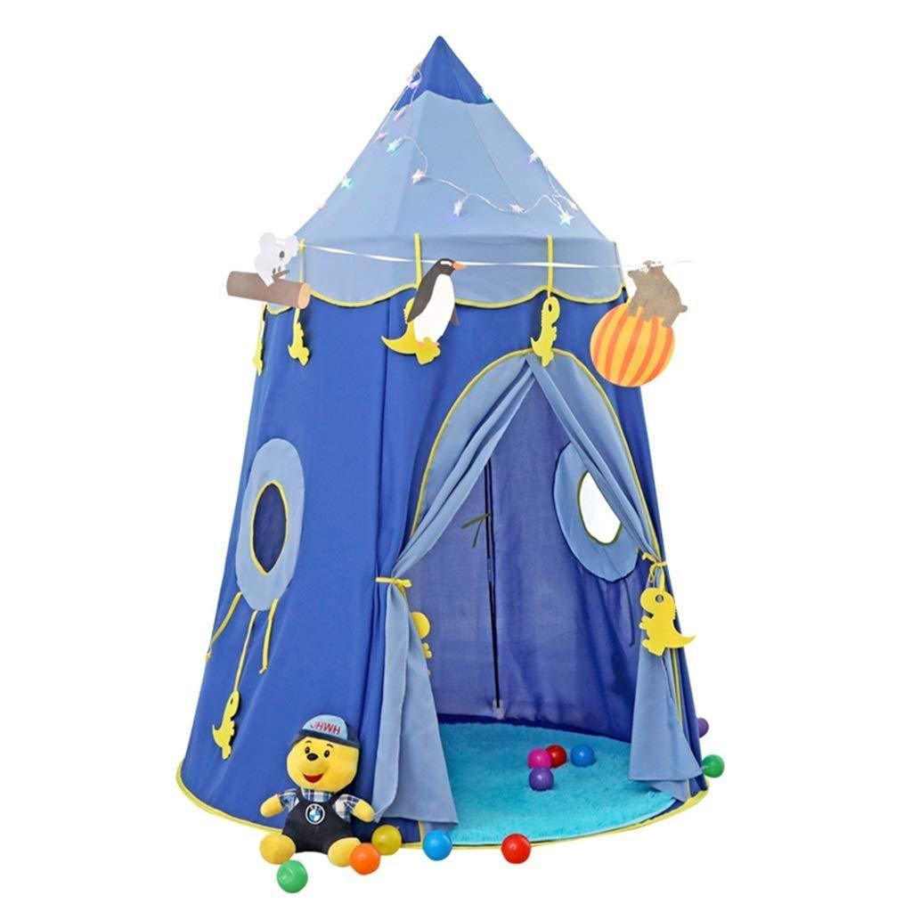 HLWAWA 子供のためのプレイテント子供子供ポップアップテントキッズプレイハウスウィグワムティーピー (Color : Blue) B07TS3KXT5 Blue