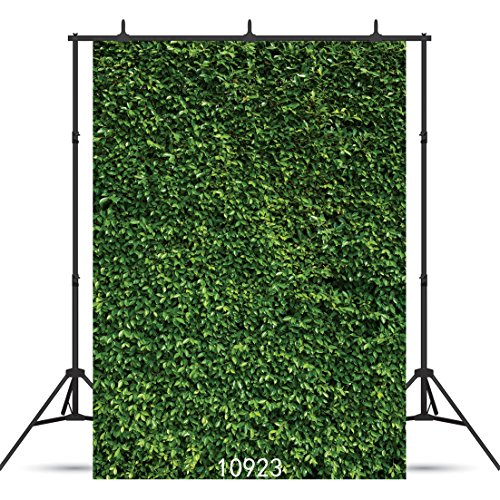 SJOLOON 5X7ft Green Leaves Backdrop Spring Background Natural Green Lawn Party Photography Backdrop Newborn Baby Lover Wedding Photo Studio Props 10923