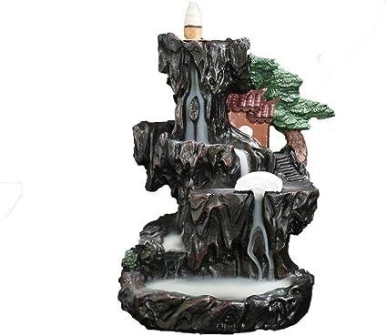 家庭用アロマディフューザー 装飾的な磁器香香炉逆流