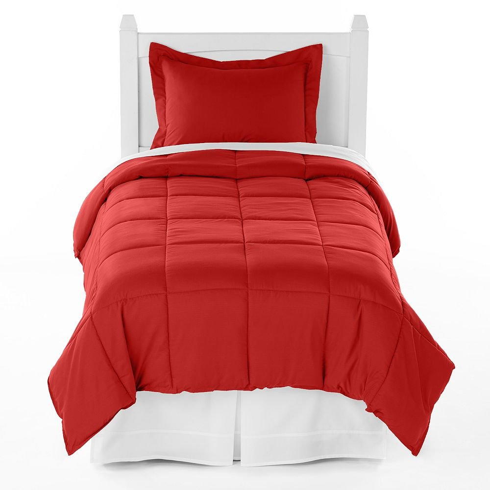 Ivy Union Premium Down Alternative Comforter Set Twin XL Extra Long / Twin (Crimson Red)