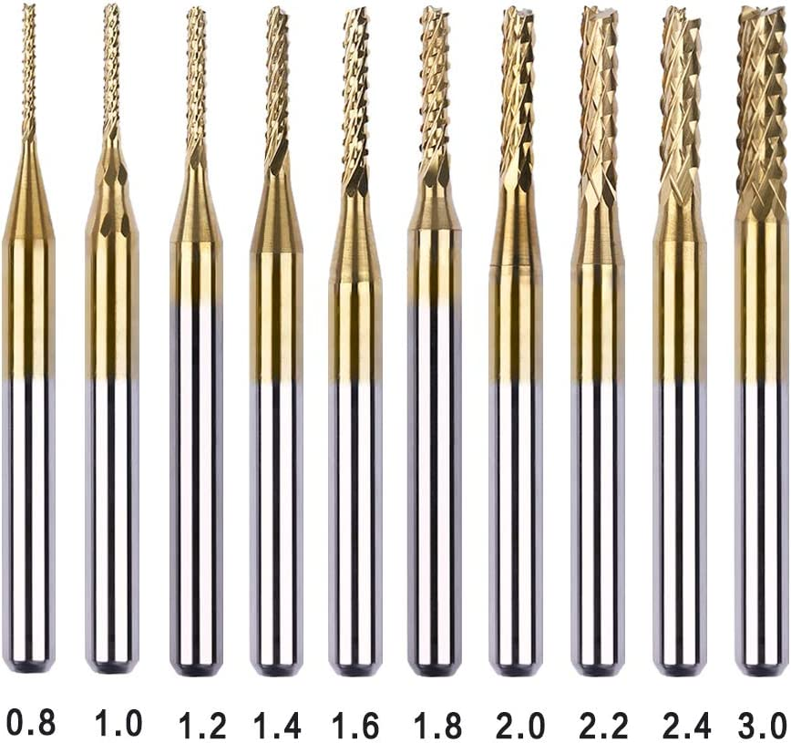 Diamond Drill bits Grinding Drill bits for Rotary Tool 1//4 inch Shank 10 mm Cylindrical 120 Grain 5 Pieces