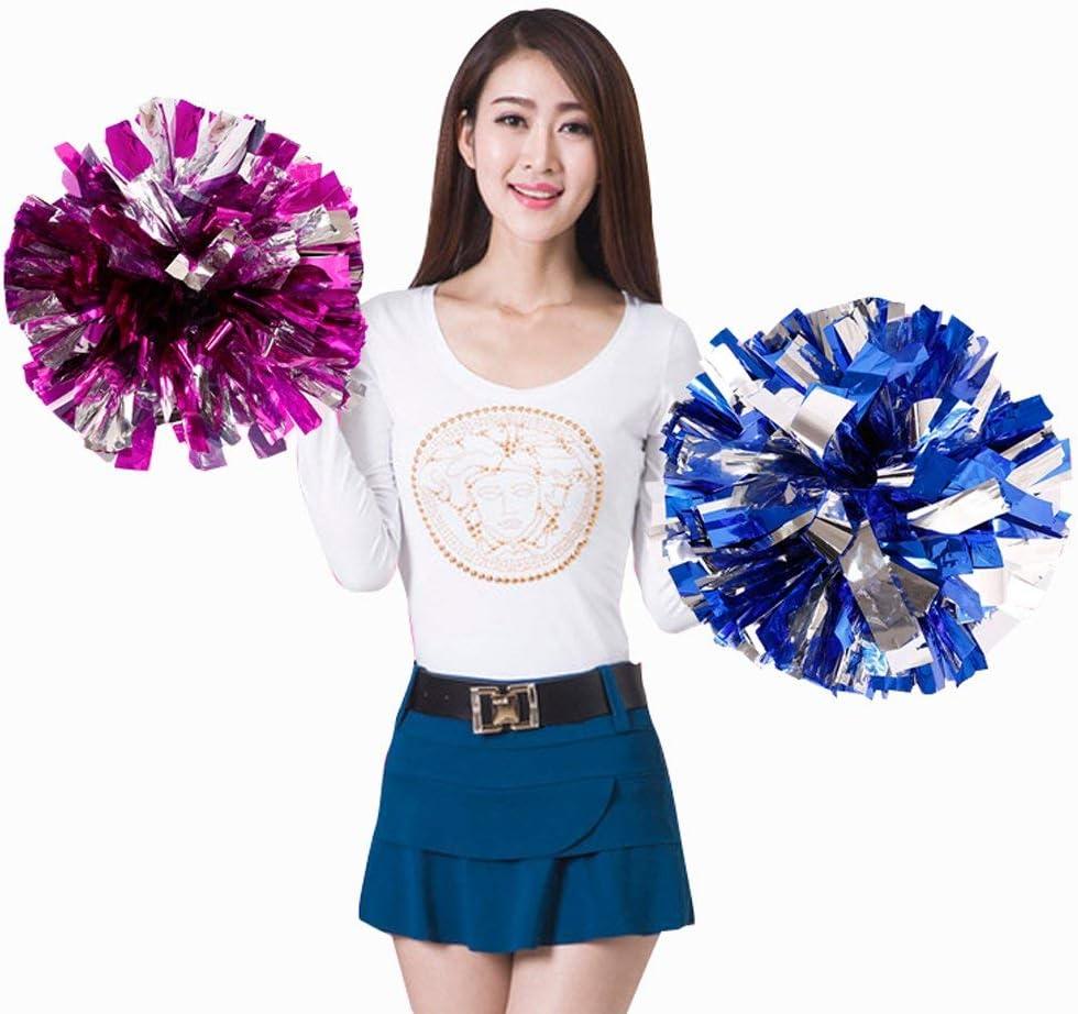 2x Pompons Cheerleading Cheerleader Tanzwedel Puschel Pompon für Party Sport