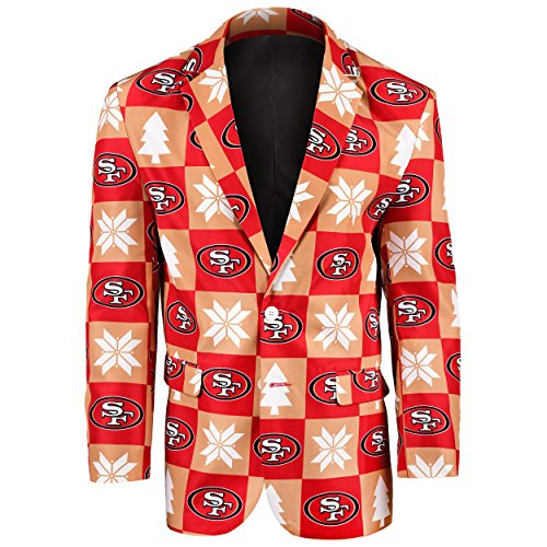 (San Francisco 49ers Patches Ugly Business Jacket - Mens Size 50)