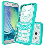 samsung phone cases for girls - Galaxy J3 Emerge Case,J3 Eclipse/J3 2017/J3 Prime/J3 Mission/Luna Pro/Sol 2/Express Prime 2 Case Clear ,Anoke Slim Fit Phone Cases Cover with Screen Protector for Women Girls Samsung J3 Emerge CH Mint