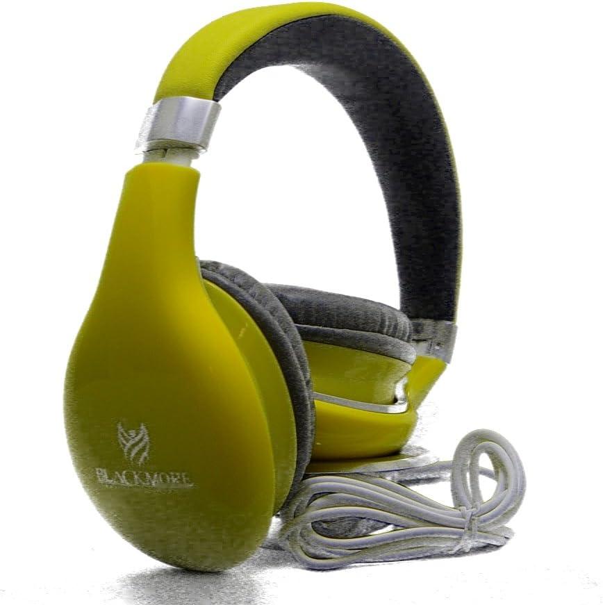 BLACKMORE BH-1900-YW 전문 헤드폰 고화질 노란색