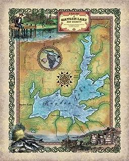 Amazon Com Hayden Lake Idaho Hayden Lake Id Hayden Lake Map