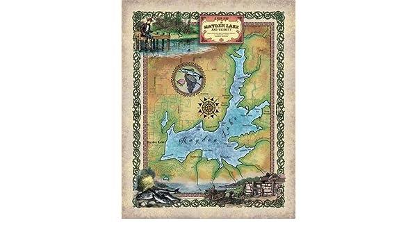 Amazon Com Great River Arts 176 Hayden Lake Idaho Vintage Historic