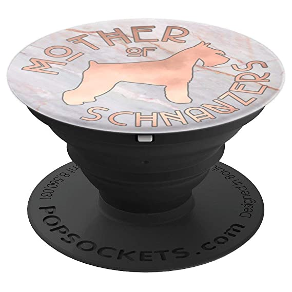Amazon com: Schnauzer Dog Mom Rose Gold on Marble PACD088