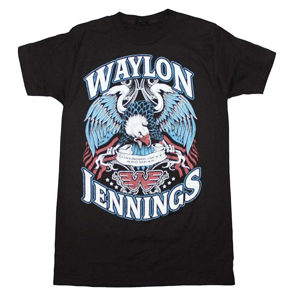 26f45a3c Amazon.com: Waylon Jennings Lonesome T-Shirt Black: Clothing