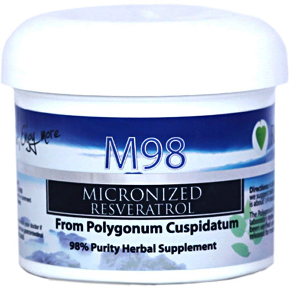 M98 Micronized Resveratrol by Revgenetics | Ultra-Premium 98% Pure Trans-Resveratrol (Polygonum Cuspidatum) 25 Grams Container by RevGenetics Resveratrol by REVGENETICS
