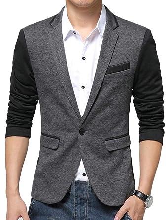 Amazon.com: Yayu - Chaqueta de punto para hombre de moda ...