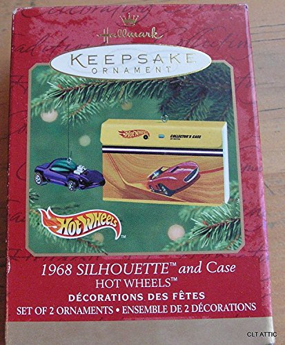 1 X Hot Wheels Hallmark Keepsake Ornaments: 1968 SILHOUETTE & COLLECTOR'S CASE